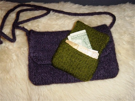 Felted Purse and Card Holder